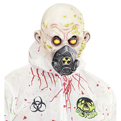 NET TOYS Zombie Maske Horror Gasmaske Latex Monster Horrormaske Reaktorunfall Faschingsmaske Atemschutz Halloweenmaske radioaktiv Grusel Latexmaske Halloween Masken gruselig