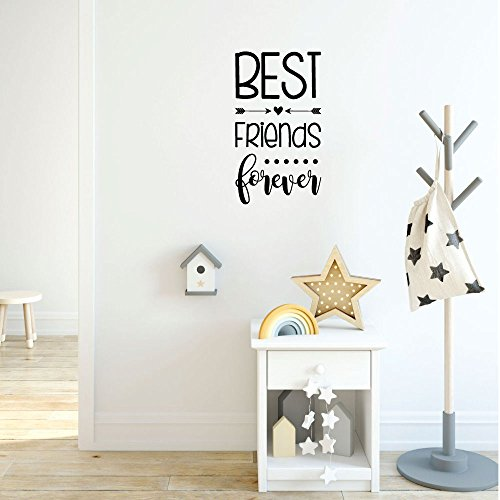 Wall Decal for Girls - Best Friends Forever - Vinyl Sticker for Children's Room or Playroom Decoration