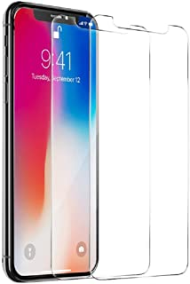 iPhone X, iPhone Xs, iPhone 11 Pro Full Glass 9H Hardness Tempered Glass Screen Protector [2-Pack]