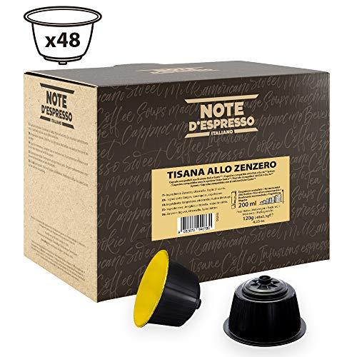 Note DEspresso Capsulas de Tisana de Jengibre Exclusivamente Compatibles con cafeteras de capsulas Nescafe* y Dolce Gusto* 48 unidades da 2.5g, Total: 120 g