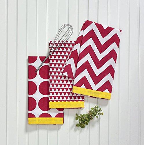 Split P Kitchen Pop Red Dishtowel Set, 4 Piece