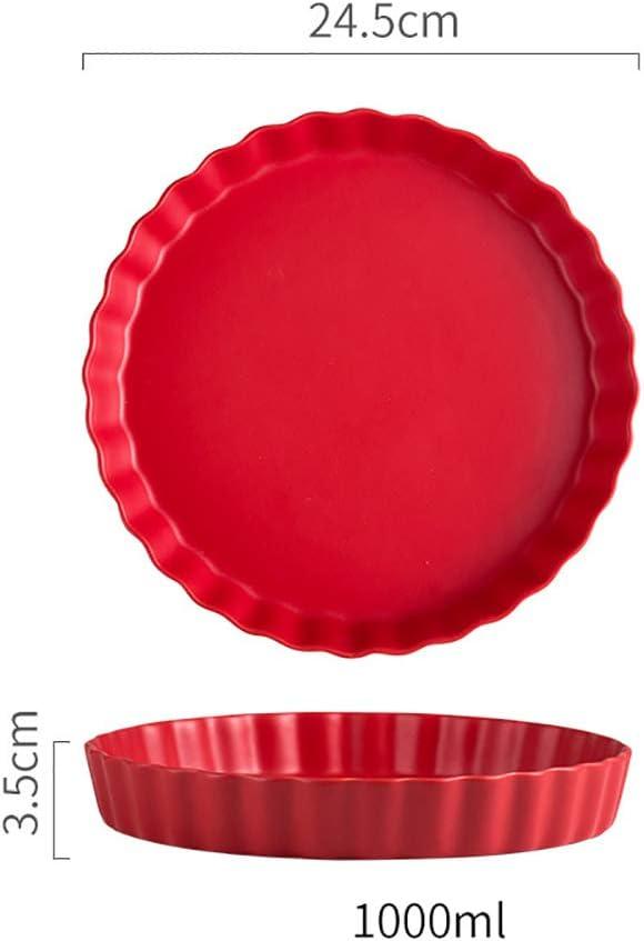Lot Ramequin Four en Céramique, Idéal pour Cuisiner Gratin, Lasagne, et Autres Recettes de Terrine, Petit Plat Four,Rouge Red
