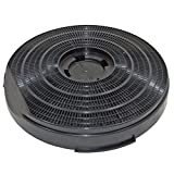 Genuine Indesit H661GY Cooker Hood Charcoal Carbon Round Vent Filter (255 mm x 55 mm)