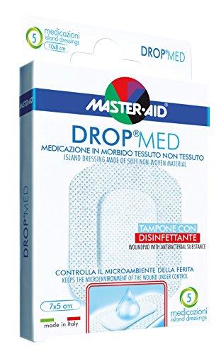 Sensitive und luftdurchlässige Pflaster, hautfreundlicher Wundverband, DROP® MED (8cm x 10cm) MASTER AID - 5 Stück