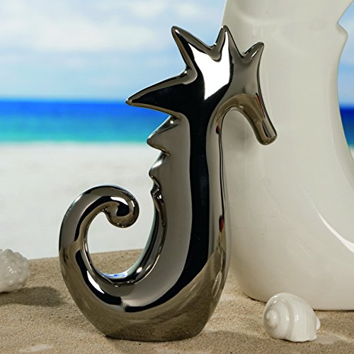 Casablanca Seepferdchen,silb,glänz,Keramik