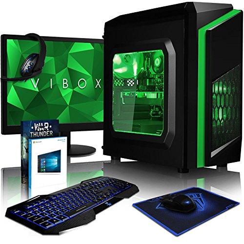 Vibox FX 120 Desktop PC da Gaming, Processore Intel i5 7400, 3.0 GHz, HDD da 1 TB, 16 GB di RAM, Scheda Grafica nVidia GeForce GTX 1080 Ti, Verde