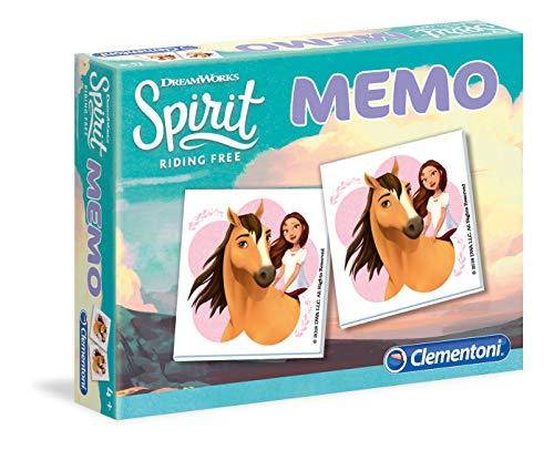 Clementoni - 18030 - Memo Kompakt - DreamWorks - Spirit