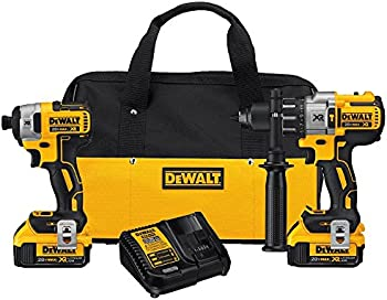 Dewalt 20V MAX XR Brushless Impact Driver and Hammer Drill Combo Kit