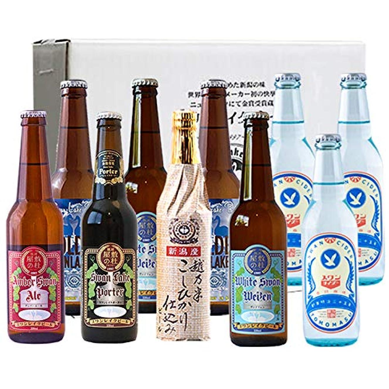 格差報酬見通しビール クラフトビール スワンレイクビール 金賞ビール &スワンサイダー10本セット