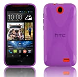 Cadorabo Case works with HTC Desire 310 in PASTEL PURPLE -