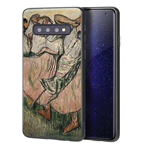 Berkin Arts Edgar Degas Custodia per Samsung Galaxy S10/Custodia per Cellulare Art/Stampa giclée UV sulla Cover del Telefono(Three Ruso Bailarines)