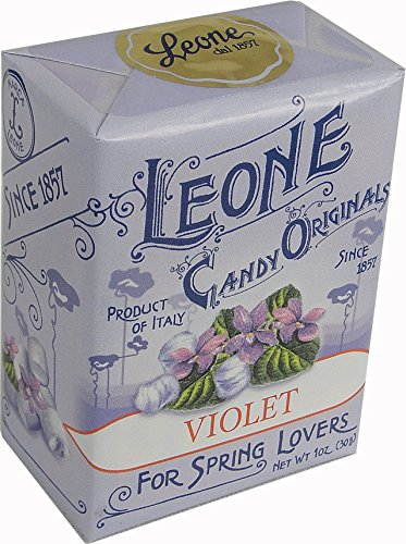 Pastiglie Leone Violet Candy Mints in Retro Small Box, One