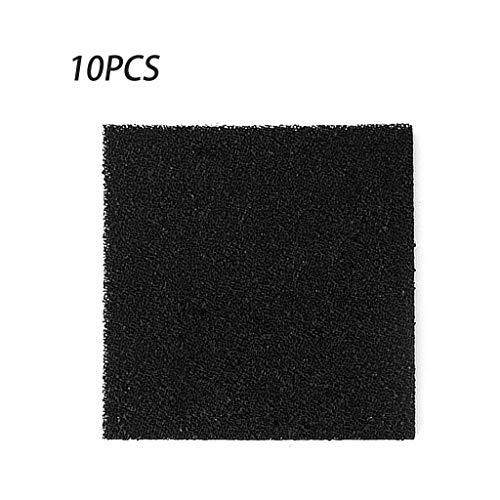 Rongzou Tool 10pcs Aktivkohleschaum Schwarz Filterlot Rauchabsorber ESD Dunstabzug mit hoher Dichte 13 cm für Luftfilterwerkzeuge
