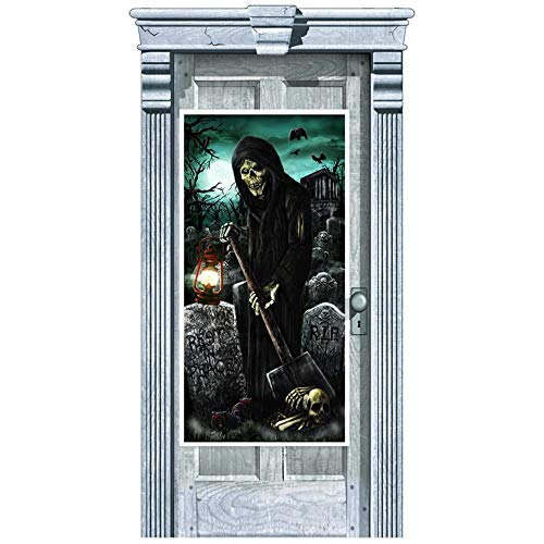 Amscan International 241155 1,65 m x 85 cm Haunted House Tür Dekorationen Kit