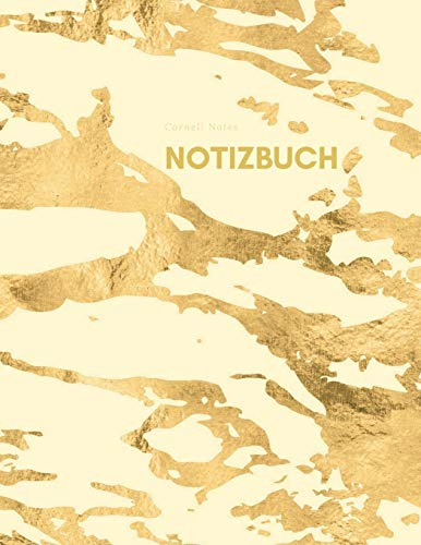 Cornell Notes Notizbuch: Journal zum einschreiben, Pastell Marmor Design