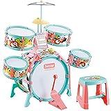 ドラムセット 子供用 キッズドラム 初心者用 ジャズドラム おもちゃ 1歳〜3歳〜6歳 太鼓 早期教育 音楽玩具 ドラム 打楽器 知育玩具 初級学習 組み立て簡単 生日プレゼント(z)