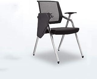 MUMUMI Ergonómico Plegable y cómodas sillas de Oficina, sillas de Malla Transpirable de recepción con el Tablero de Escritura, sillas de Escritorio Cojines de Espuma Suave for reuniones