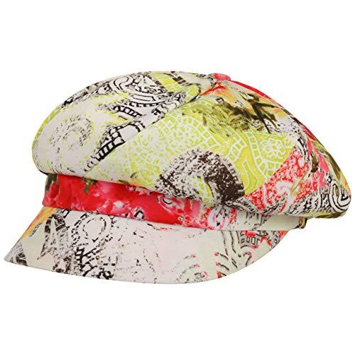 Lipodo Printed Flower Newsboy Pet Dames - Made in Italy visor muts baker boy cap met klep voering voor Zomer/Winter