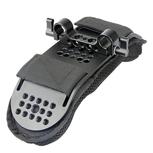 [Update Version] NICEYRIG Kamera Schulterpolster mit 15 mm Rod Clamp für Video Shoulder Mount Rig Support System