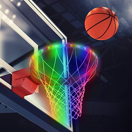 Find Cheap Gejoy LED Basketball Hoop Lights Basketball Rim LED Light Solar Basketball Hoop Strap Lig...