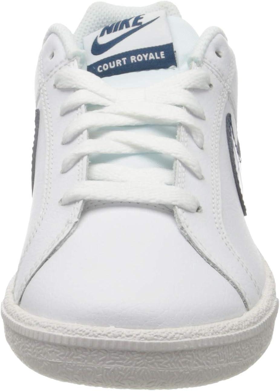 NIKE Court Royale, Zapatillas para Mujer Blanco Azul Valeriana