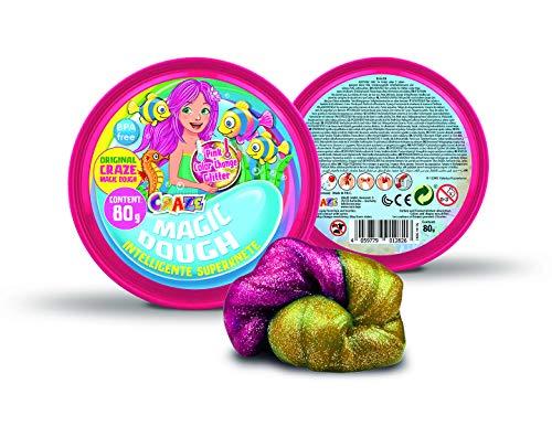 Craze 12826 Intelligente Superknete für Kinder Meerjungfrau Magische Knete, Magic Dough, farblich Sortiert
