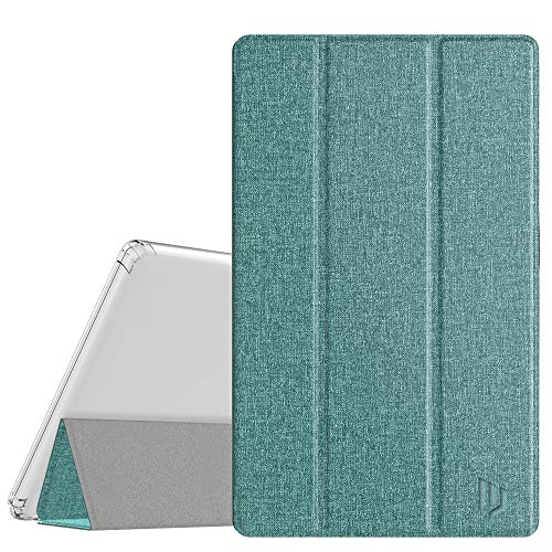 Dadanism All-New Amazon Fire HD 10 Tablet Case(9th Generation- 2019 Release) / (7th Generation -2017 Release), Full-Body Trifold Lightweight Smart Case Premium Back Cover - Denim Sage