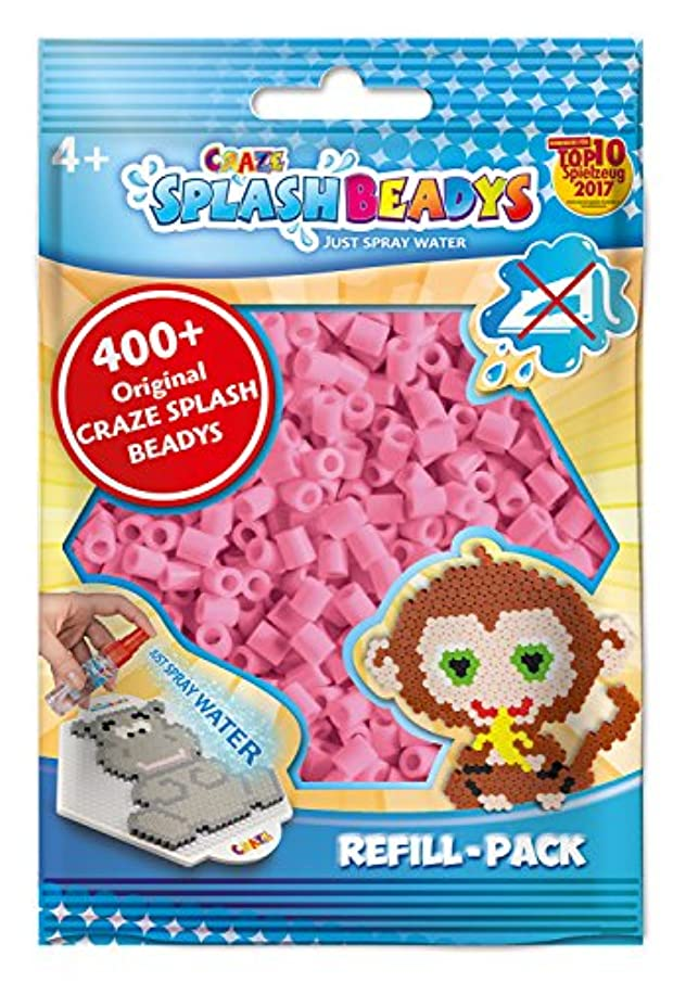 CRAZE 11782?Splash Beadys Refill Pack of Approx 400?Pink