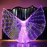 Alas de Baile de luz LED, Danza del Vientre con Alas de Baile de Color alas Grandes alas de Mariposa Accesorios de Color Presentaciones de Baile,Trajes de Rendimiento, Carnaval