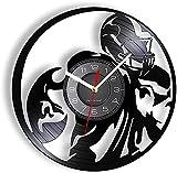 KDBWYC Horloge Murale en Vinyle Jeu de Football américain Disque Vinyle Horloge Murale Sport Joueur de Rugby Jeu Horloge Murale Design Moderne Horloge Fan de Football Cadeau