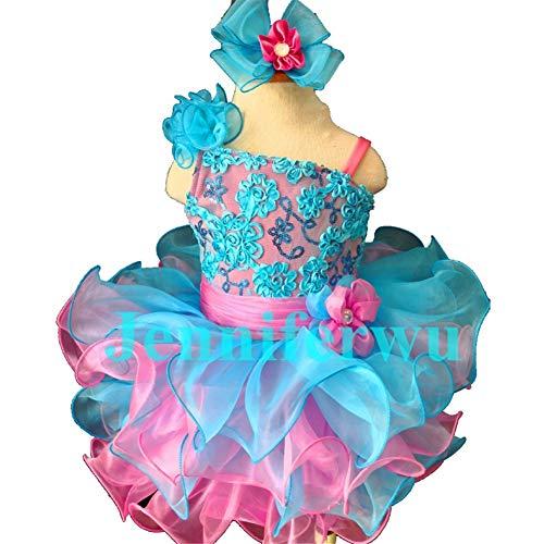 Jenniferwu Infant Toddler Baby Newborn Little Girl's Pageant Party Birthday Dress G135BL Blue Size 3T