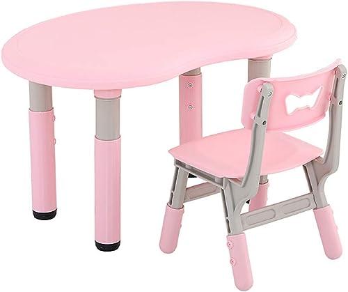 Schreibtische Kinderschreibtisch Stuhl, H nverstellbare Multifunktionale Kinder Frühe Bildung Tabelle (Rosa)