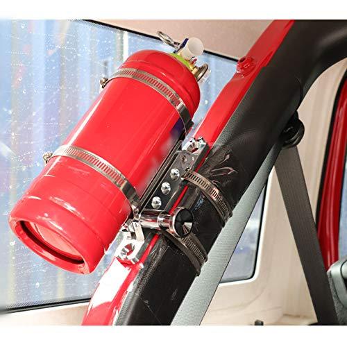 (1 Year Warranty) Chrome Quick Release Adjustable Fire Extinguisher Mount for Jeep Wrangler UTV Polaris RZR Ranger Camper Van with Pillar