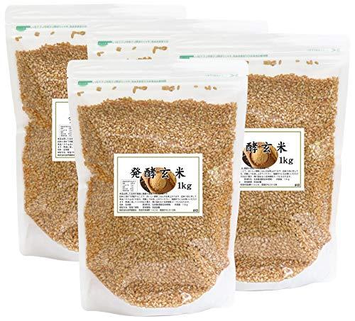 自然健康社 発酵玄米 1kg×4袋 チャック付き袋入り