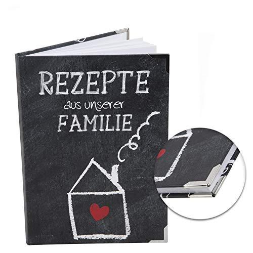 Logbuch-Verlag kleines Rezeptbuch REZEPTE AUS UNSERER FAMILIE - DIN A5 leer blanko DIY Kochbuch für Familienrezepte Generationen Buch