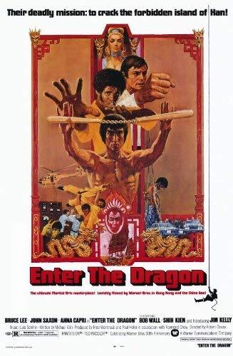 Póster de la película Enter The Dragon (60 x 91,5 cm), diseño de Bruce Lee John Saxon Jim Kelly Ahna Capri
