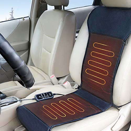 Relief Expert Seat Warmer, Heated Seat Cover with Smart Safety Protection, Universal Fit
