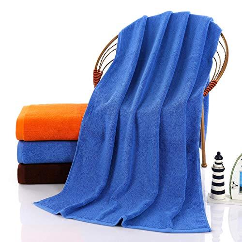 Toalla de baño Grande Espesada Hotel Hotel Naranja Puro algodón 70 * 140 Azul