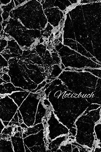 Notizbuch: Tagebuch / Journal im schwarz weiss Marmorstein Design mit 120 leeren karierten Seiten für deine Notizen, Gedanken, Aufgaben, Gedichte und Ideen.