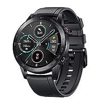 HONOR MagicWatch 2 スマートウォッチ スマートブレスレット 活動量計 歩数計 1.39インチAMOLEDスクリーン smart watch GPS運動記録 睡眠検測 音楽再生コントロール 5ATM防水 長座注意 着信通知 14日間の待機時間 IOS&Android対応(ブラック)