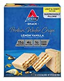 Atkins Protein Wafer Crisps, Lemon Vanilla, Keto Friendly, 5 Count