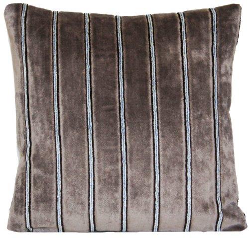 En Velours Gris Rayé Housse de coussin à rayures DESIGNERS GUILD Tissu oreiller décoratif Couvre-lit millbeck