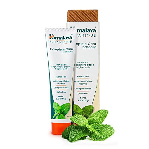 Himalaya Botanique Toothpaste - Simply Mint 150g - Todo Natural Sin Fluoruro, SLS, gluten y carragenina, Pasta dental orgánica