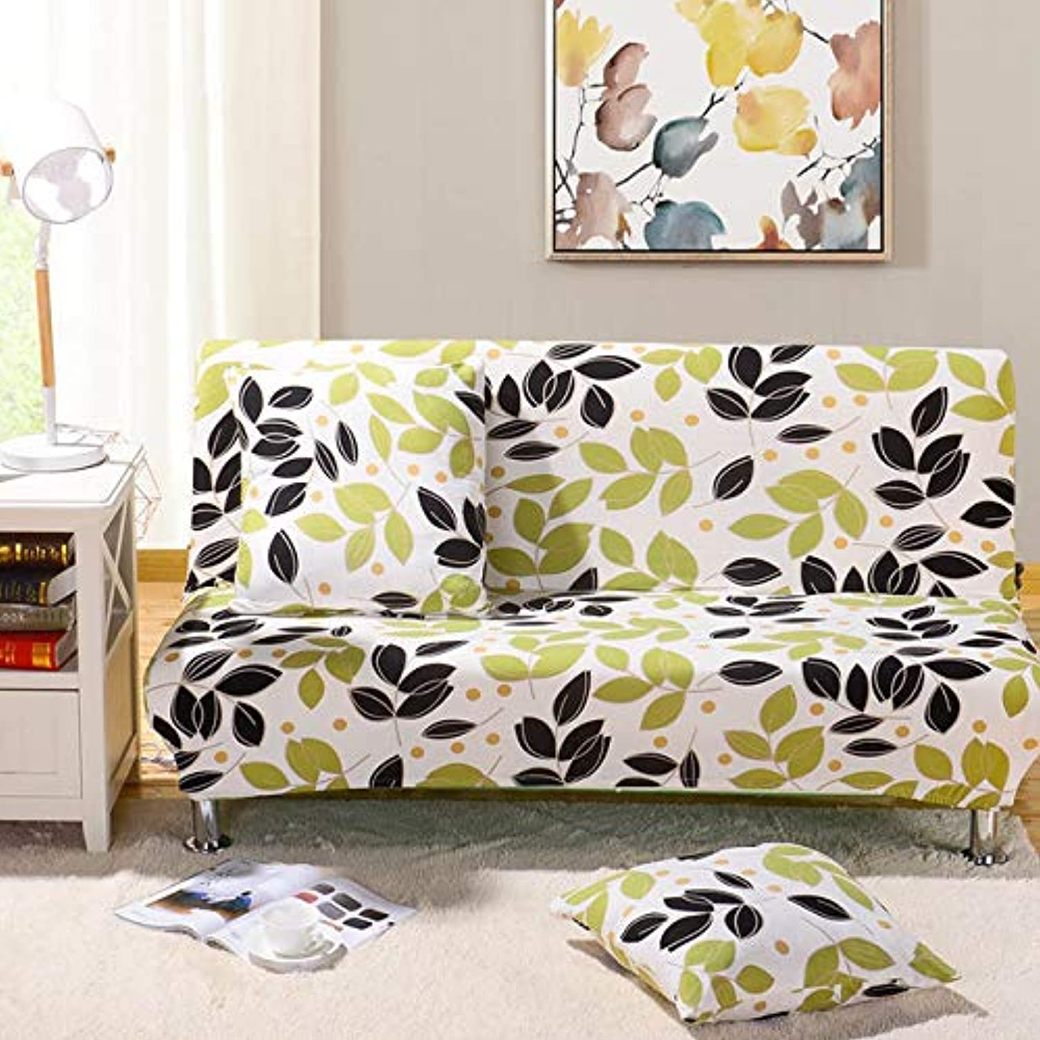 Elastic Sofa Bed Cover No armrest Removable Stretch Slipcovers for Couch All-Inclusive Folding Furniture Sofa Cover S M L Sizes   color 3, Medium Size