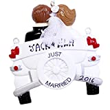 Personalized Just Married Wedding Car Christmas Ornament 2021