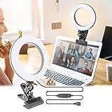 6 Pulgada Aro de Luz,Anillo de Luz LED,Luz de la Foto,Anillo de Luz Selfie,3 Modos Luz+10 Niveles Anillo de Luz LED Regulable,para Movil TIK Tok,Maquillaje,Selfie,Streaming,Youtube(Luz Plana)