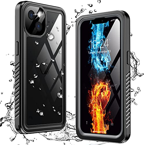 ANTSHARE for iPhone 13 Phone Case Waterproof with Sandproof,Built-in Screen Protector 360° Full Body Heavy Protective Shockproof Rugged...