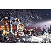 冬の雪のマイナーな夕暮れスノークラシックパズル500 2000 1500 2000 4000 5000ピースパズル大人の難しい大きな床パズルの誕生日プレゼントの装飾 0224 (Color : No Partition, Size : 5000 pieces puzzle)