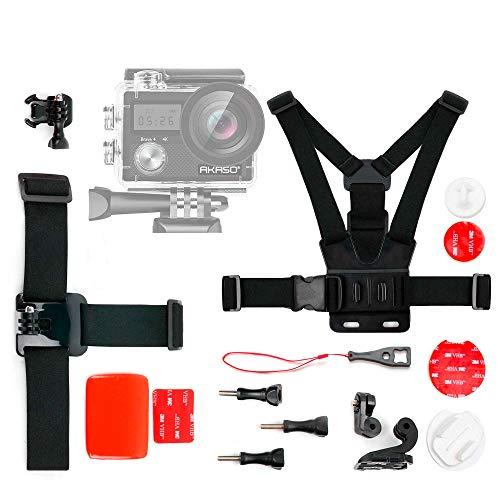 DURAGADGET Kit de Accesorios para Cámara Deportiva AKASO Brave 4, AKASO V50 Pro, COOAU 4K WiFi Sports Camera, LILIKU HD-US-258