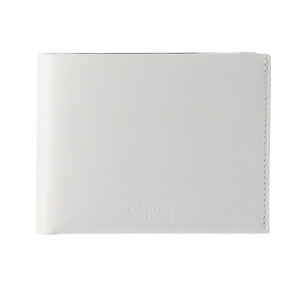 穀物ヒールメッセージ(カルバンクライン プラティナム) CalvinKlein PLATINUM 二つ折り財布 フォーカス 852604 CK シーケー